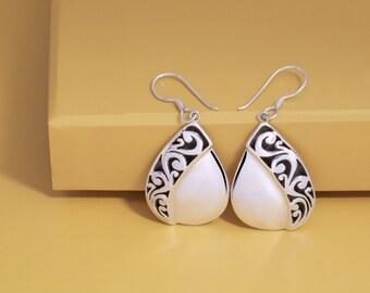 Best Selling, Gergajian Dangle Earrings, 925 Sterling Silver, FIne Quality, Balinese Jewelry