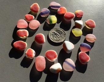 tiny tumbled glass sea glass orange glass gems glass jewelry stones pebbles jewelry making supply glass craft profect 9-408