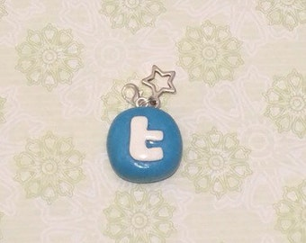 Polymer Clay Twitter Charm