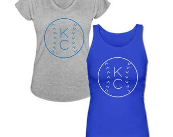 Kansas City Royals KC Baseball V Neck and Tank Top