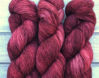 Merino Single by Skeinny Dipping in colorway Redwoods