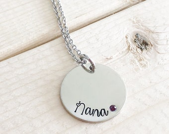 New Grandma - Hand stamped necklace - Gift for Grandma  - Grandmother's necklace - Name Necklace - Mother's Day gift - Personalized jewelry