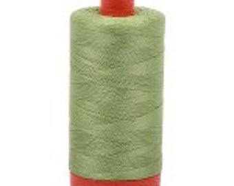 Light Fern Aurifil Mako Cotton Thread Color 2882, 50 wt, 1300m, 1 spool