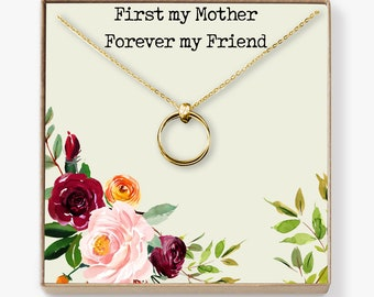 Mother Necklace: Mom Necklace, Mom Gift, Mother's Day Gift, Mother's Day Necklace, Mother Daughter Gift, 2 Linked Circles