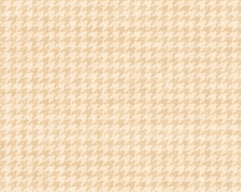 Henry Glass - Glad Tidings - Small Houndstooth - Cream - Fabric by the Yard 8624-44