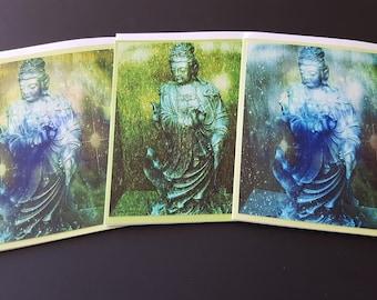Quan Yin 3 Card Set Green One