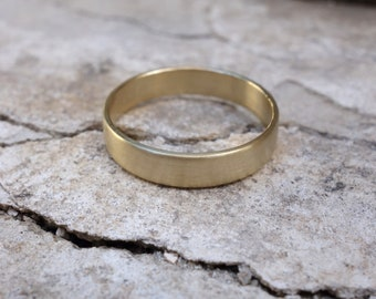 Simple Gold Wedding Band Solid Gold Band Gold Wedding Band Fine Jewelry Plain Gold Wedding Ring Wedding band set His and hers wedding rings