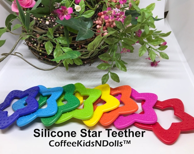 Silicone Star Teether Toy // Silicone Baby // Silicone Toy // Star Shape Toy // Toy Making Parts // Baby Teething // Sewing DIY