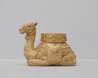 Camel Gold Candle Holder