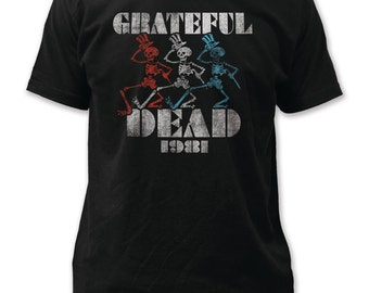 Grateful Dead 1981 fitted jersey tee - GD20(Black)