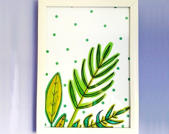 Plant Mixed Media Artwork | Watercolour | Illustration