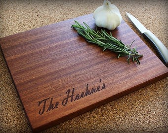 Engraved Tree Cutting Board, Wedding, Anniversary, Womens Gift, Husband Gift, Housewarming Gift, Personalized Cutting Board, Bridal Shower