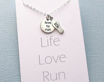 Running Gift | Inspirational Fitness Jewelry, Workout Necklace, Marathon Gift for Women, Best Friend Gift for Her, Gifts for Mom | Y08