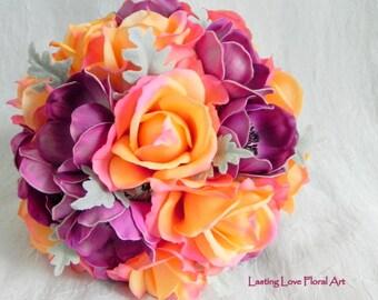 Orange Wedding Bouquet Fall Wedding Bouquet Autumn Bouquet