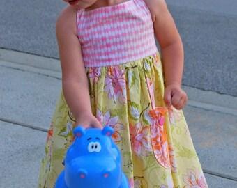 Peyton Dress Pattern Tutorial - Sizes 18mo, 2, 3, 4, 5