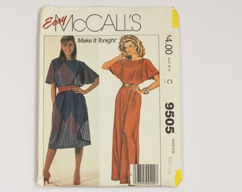 Easy Pullover Dress Sewing Pattern in two lengths from McCalls USA