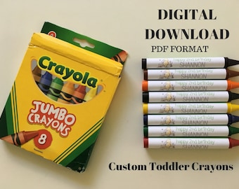 Classic Winnie the Pooh Jumbo Crayon Wrappers - DIGITAL LISTING
