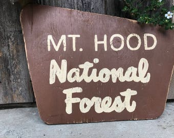 Replica National Forest Sign