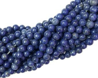 Dumortierite Beads Round 8mm 10mm 12mm Natural Blue Dumortierite Beads Blue Gemstone Beads Navy Blue Semi Precious stone Beads 12mm 14mm