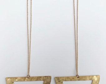 Gold druzy crystal bib necklace