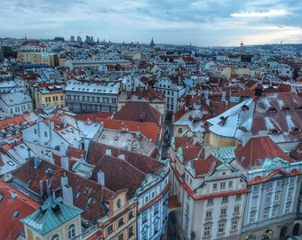 Prague from Above, Prague, Czech Republic, Czech Photography, beautiful architecture photography, Prague Photography, City Photography