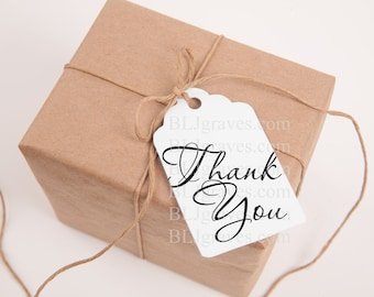 Thank You Tags Handmade Wedding Birthday Party Favor Treat Bag Tags T005