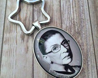 Ruth Bader Ginsburg, Key Chain, Keychain, The Notorious RBG, Resist, Women's History, Feminist
