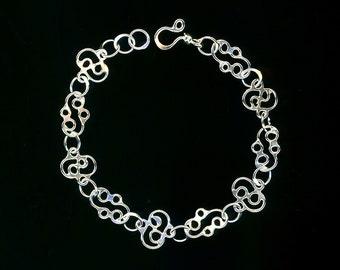 Silver Bracelet Wire Sterling Silver Bracelet Chain Link Wire Jewelry