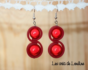 Red silicone earrings