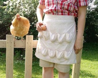 Yoder Egg Apron  for egg gathering (Summer Leaf Cream)