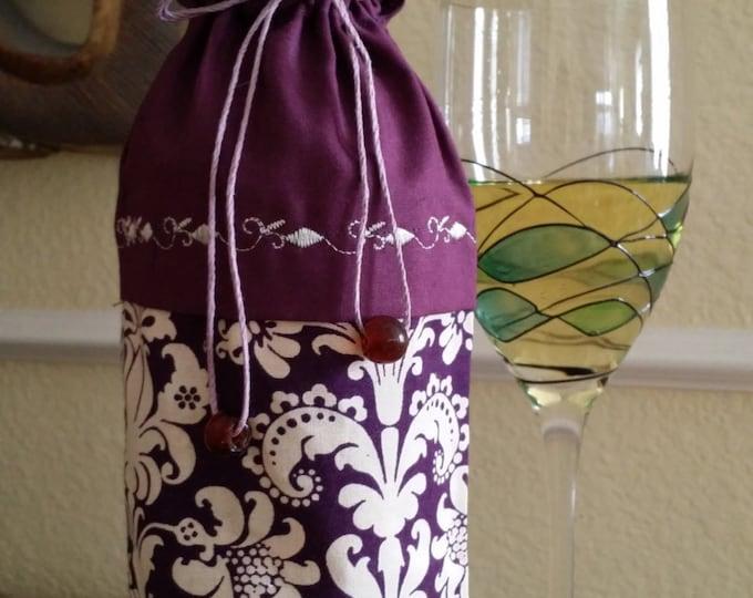 Wine Bag-Deluxe-Fleur-de-lis Collection (Burgundy)