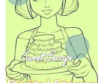 Sweet Cake Digital Stamp