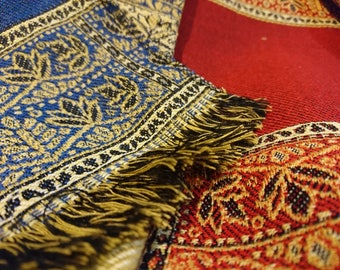 High Quality North African Embroidered Scarf / Shawl, Sofa Throw, Blanket Scarf.