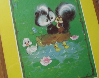 Large Vintage 1973 Chit and Chat Critter Plaque from American Greetings
