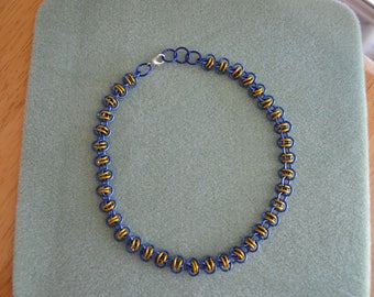 Blue & Yellow double orbital choker