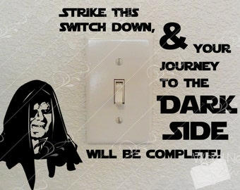 Star Wars Light Switch Decal--Journey to the Dark Side