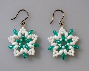 Peppermint Starburst Earrings