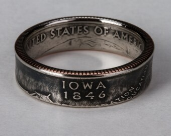 Iowa State Quarter Coin Ring