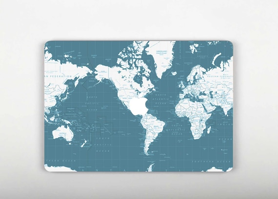 World map skin macbook air macbook decal vinyl macbook cover gumiabroncs Gallery