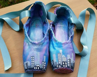 Painted pointe shoes