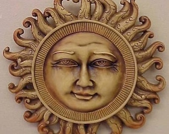 Celestial Sun Wall Plaque Home Decor