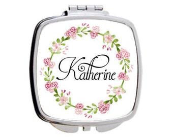 bridesmaid gift, compact mirror, dishwasher safe