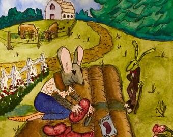 Notecard: Gardening Mouse