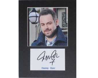 Photo print Danny Dyer printed signed autograph 8x6 inch mounted display