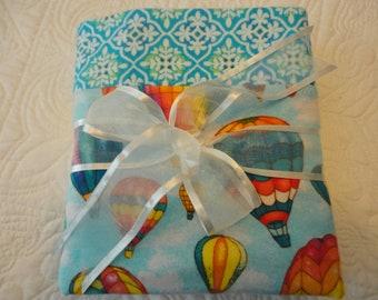 Hot Air Balloon Flannel Blanket