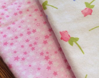 Pink Rosebud Burp Cloths