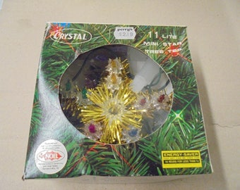 Crystal 11 Lite Mini Tree Top  Vintage 1980