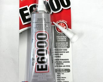 E6000 Industrial Strength Adhesive - 2.0 fl oz / 59.1mL Tube - Clear with BONUS Nozzle