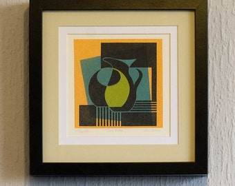 Two Pots - Ltd Edition Linocut