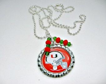 University of Miami Hurricanes, University of Miami Jewelry, University of Miami Necklace, UM Jewelry, UM Accessories, College Girl Gift